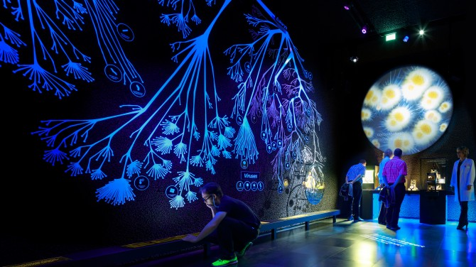 Micropia - Tree of Life installation. © via ART+COM