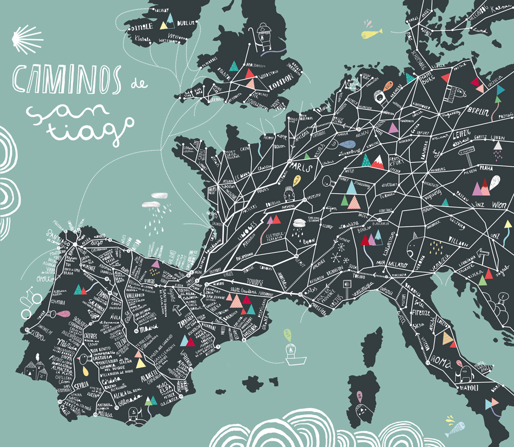 Book review map exploring the world phaidon sandra rendgen come all the way caminos santiago 2011 courtesy cinta arribasphaidon gumiabroncs Images