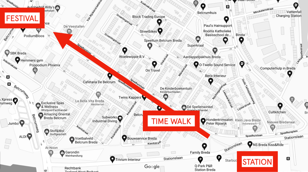 Map of the Time Walk in Breda